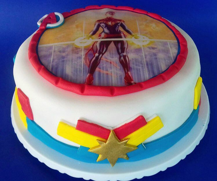 Captain Marvel News On With Images Marvel Cake Captain