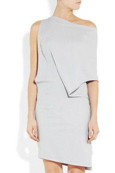 light gray crepe assymetrical dress,  Todd Lynn