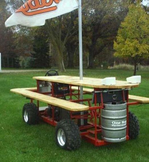 Booze Cruise The Best Man Cave Gear Setups Pinterest Picnic - Motorized picnic table for sale