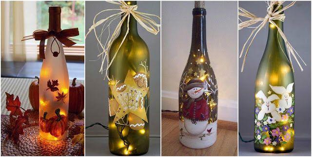 Ideas Con Botellas Decoradas Para Navidad Manualidad Facil Y Rapido Youtube Easy Diy Holiday Decorations Diy Holiday Decor Christmas Decor Diy
