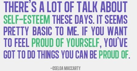 Please do things you can be proud of ... good advice.