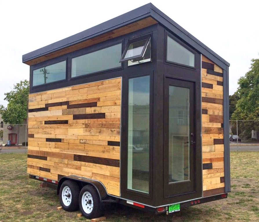 This Tiny Solar Powered Home Is For Sale On Ebay Starting At Just 10k Small House Trailer Tiny House Trailer Tiny Mobile House
