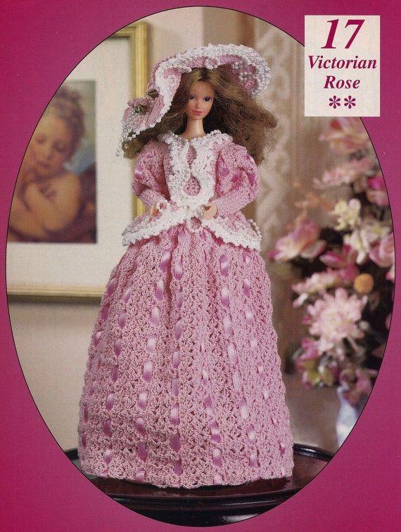 Victorian Rose, Fashion Doll Clothes Crochet Pattern BYOB Build Ur ...