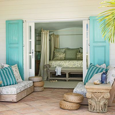 a home in Bay of St. Jean, St. Barts in the French West Indies, designed by Barry Dixon, photo by Tria Giovan as seen in Coastal Living