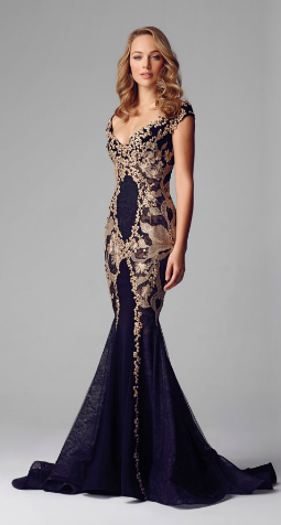 2f17873f9b88 Alberto Makali LACE APPLIQUE EVENING GOWN | Evening Gowns | Prom ...