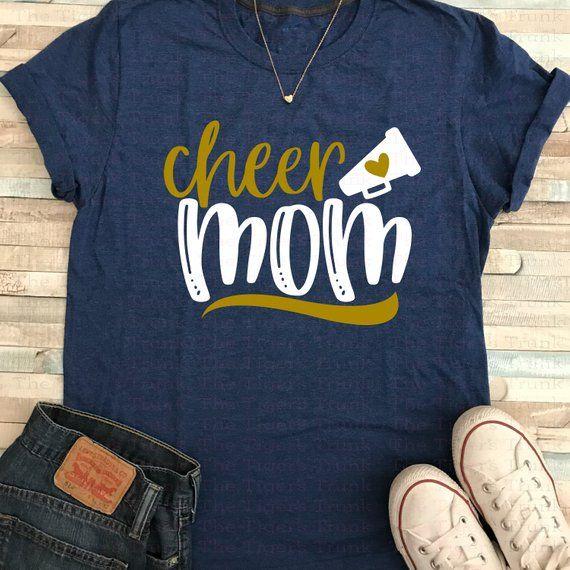 e06e71855414 Cheerleading Mom Shirt | Cheer Mom Shirt | Cheerleading Gifts | Cheerleading  Shirts | Cheer Mom Squad | Bella+Canvas short-sleeved t-shirts