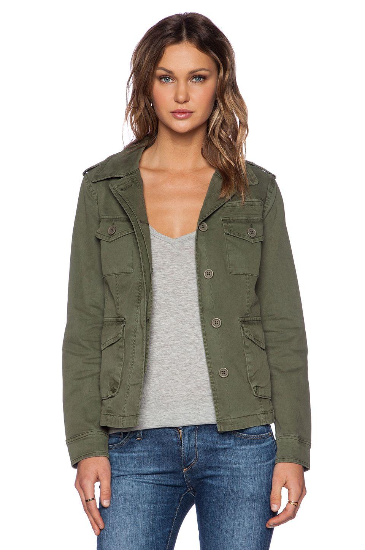 Sanctuary Troop Peplum Jacket In Original Army Green Revolve Peplum Jacket Revolve Clothing Jackets [ 1450 x 960 Pixel ]
