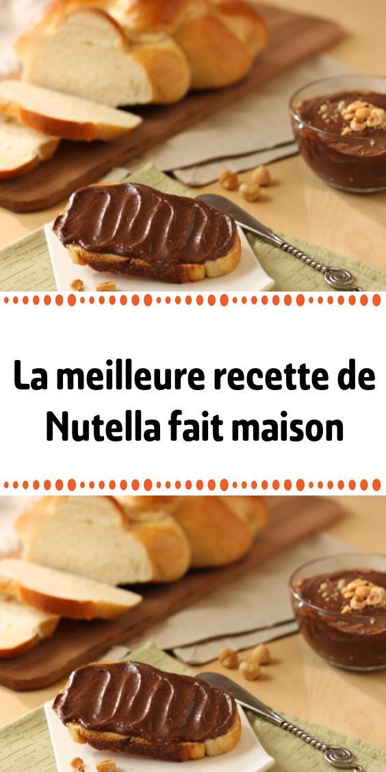 La Meilleure Recette De Nutella Fait Maison Nutella Fait Maison Nutella Recette Meilleur Recette