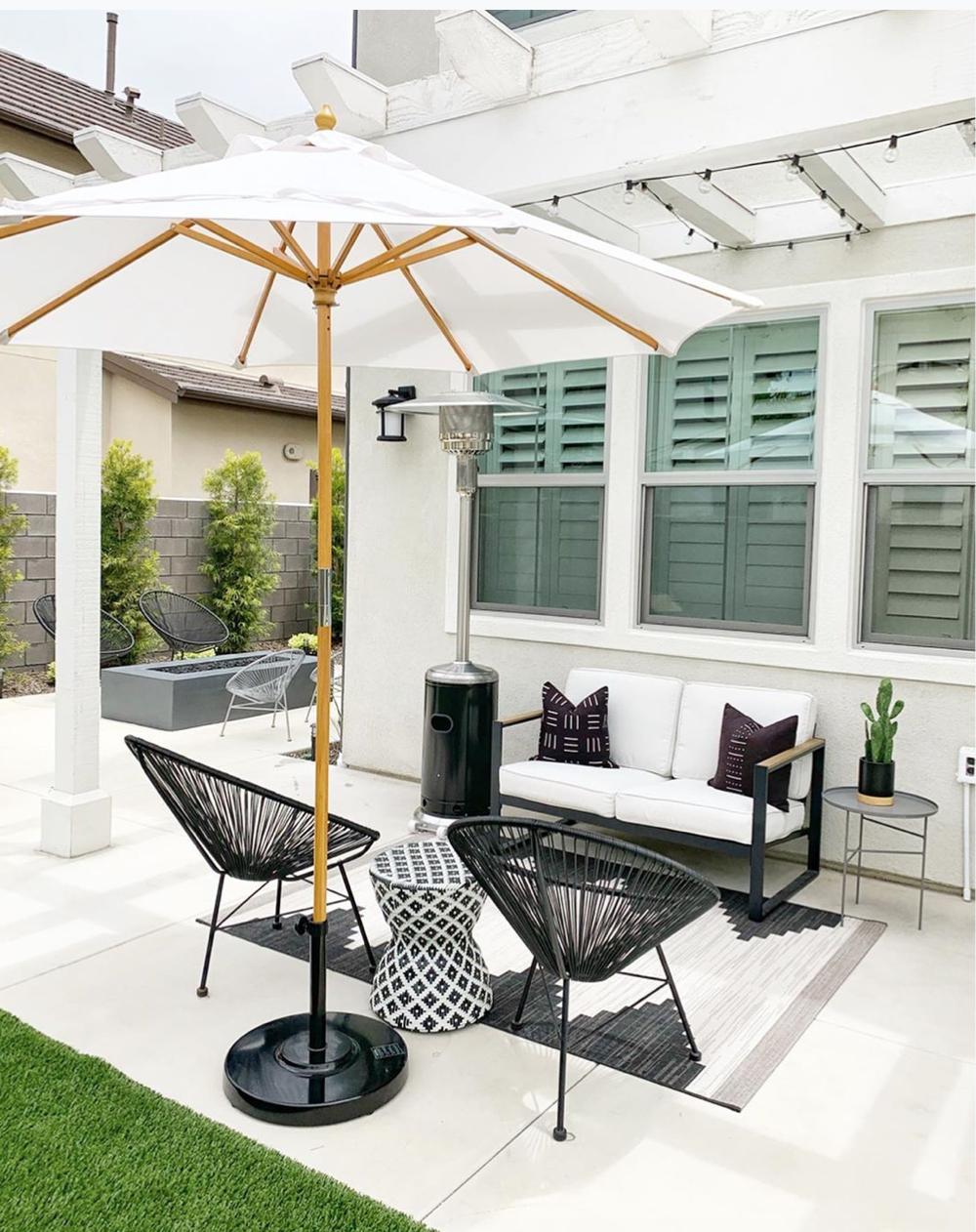 Az Patio Heaters Hlds01 Sshgt 87 Tall Two Tone Patio Heater With Table Patio Heater Patio Best Patio Umbrella