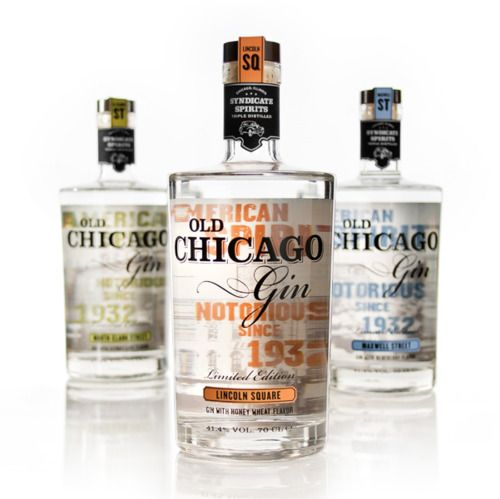 """""""Old Chicago Gin is a brand of American Gin inspired by the spirit's notorious…"""