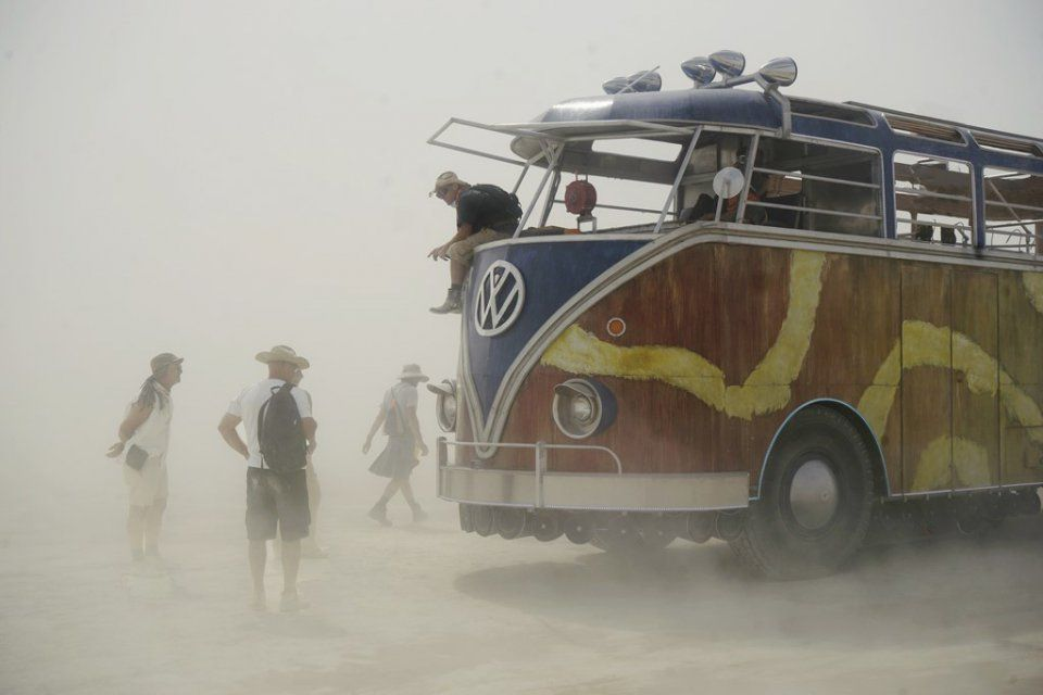 Victor Habchy at the Burning Man Festival.