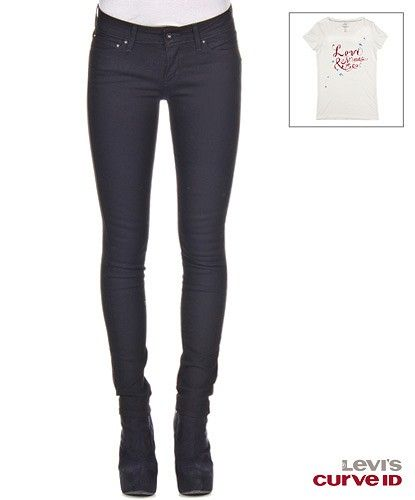 Bold Curve Skinny Black Superstretch - #Levis