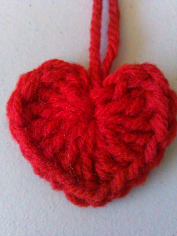 crochet heart | Crochet | Pinterest | Tejido, Corazones rojos y San ...