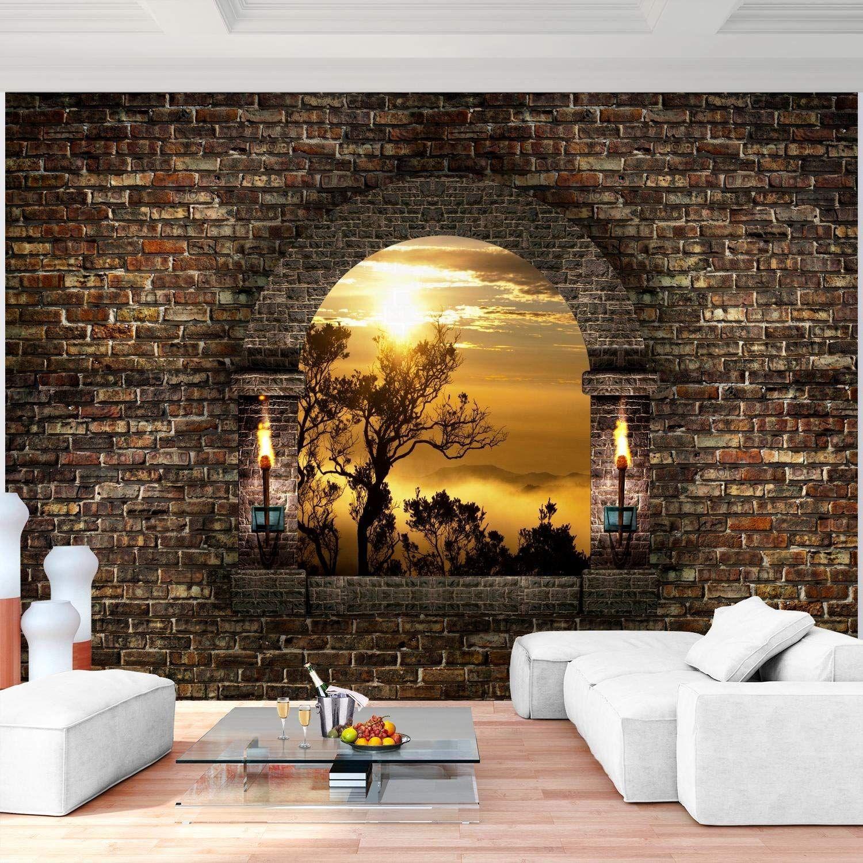 Fototapeten Tapete Fototapete Vlies Steinwand Wandbilder XXL 3D Optik Wohnzimmer