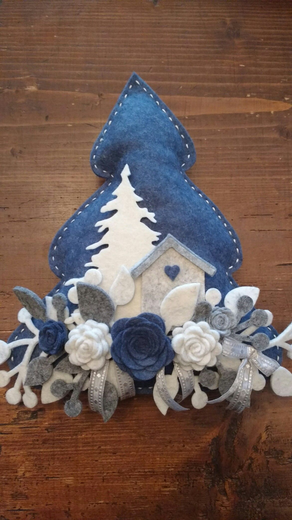 Decorazioni Natalizie In Feltro Pinterest.Albero Natale Feltro Karacsonyos Artigianato In Feltro Natalizio