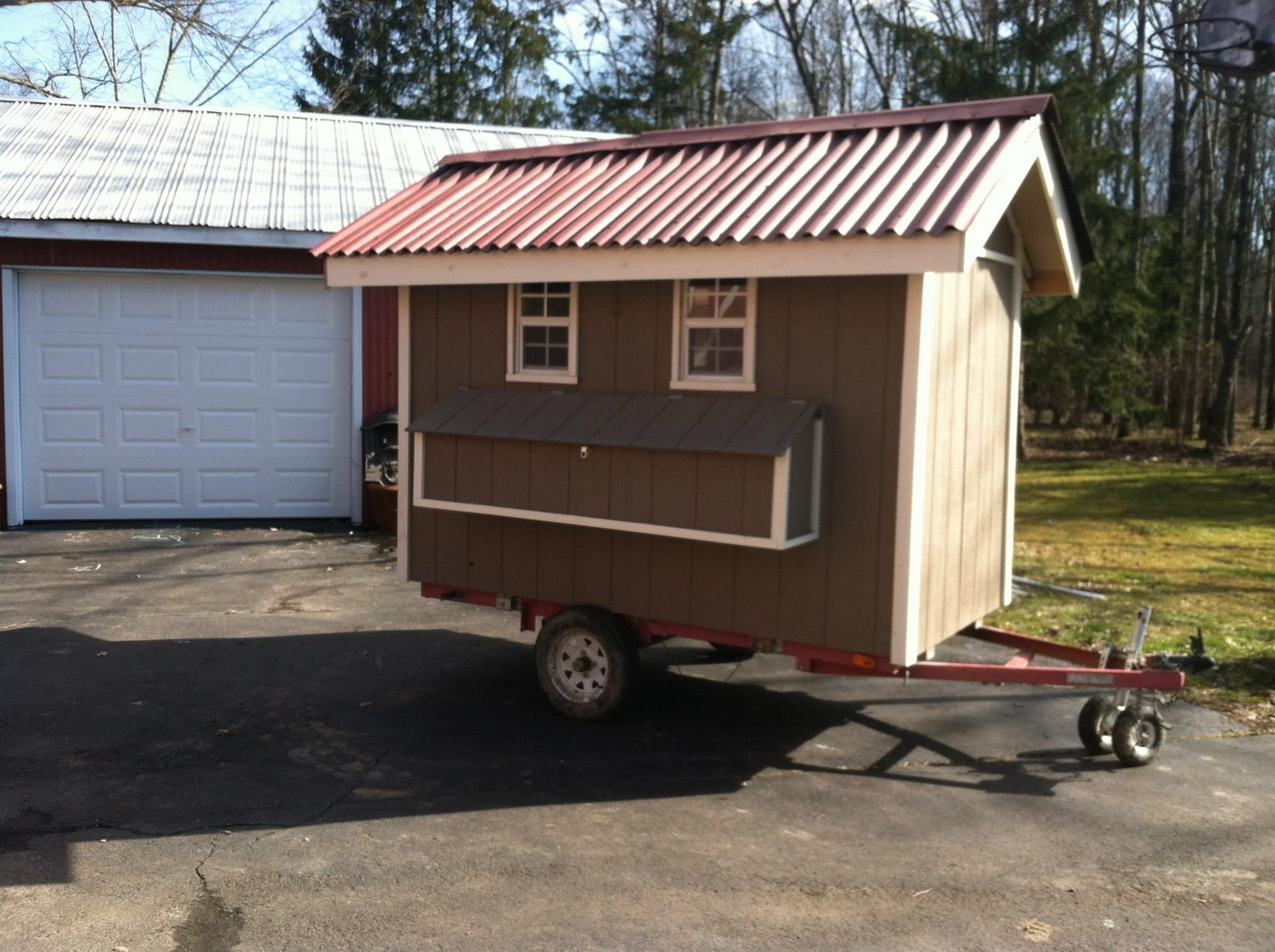 Owl moon farms chicken coop mobile coop pinterest for Mobile chicken coop plans