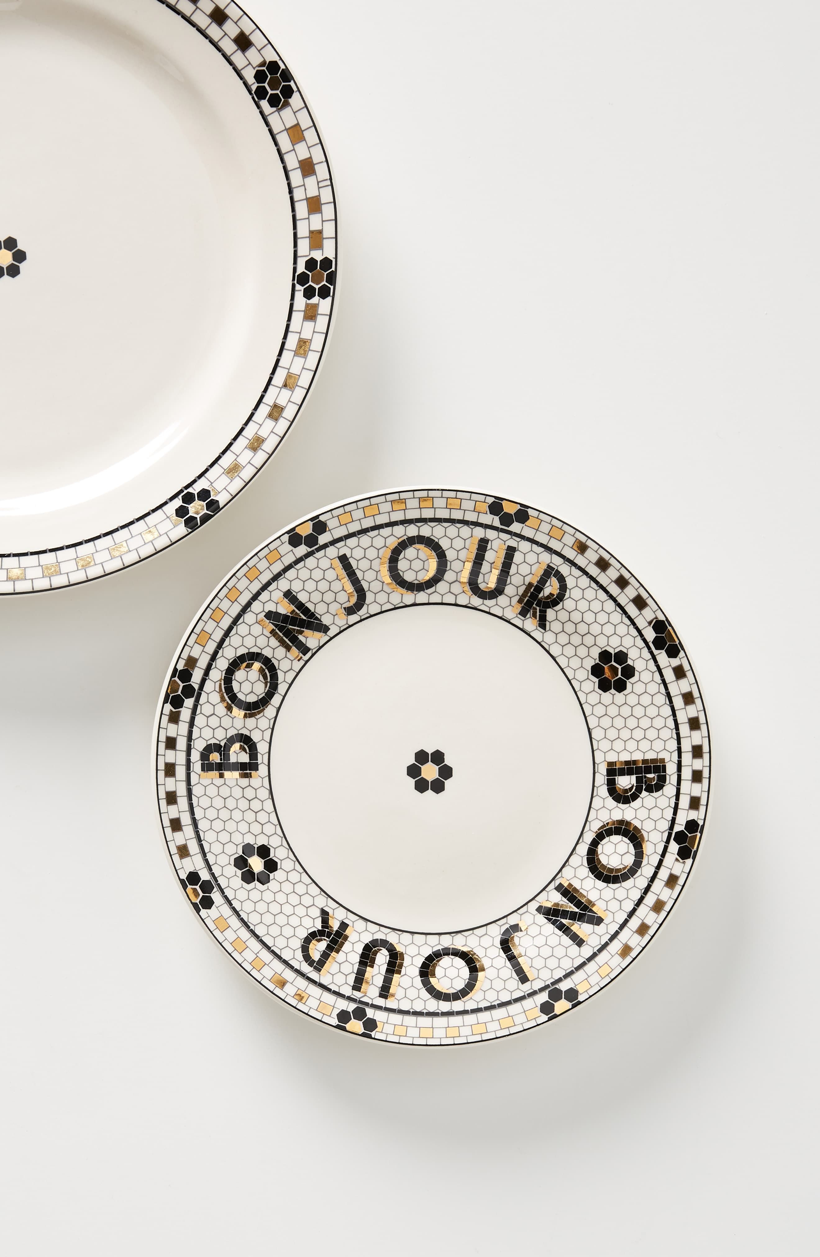 Anthropologie Bistro Set Of 4 Bread Plates Halloween Home Decor
