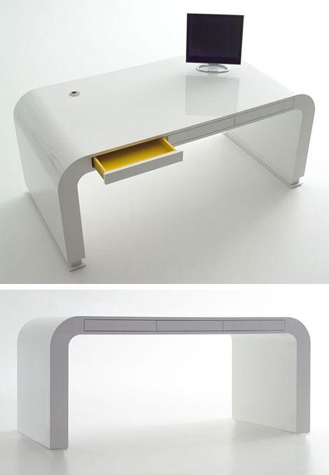 Clean Sleek Modern Singnalment Office Table Design