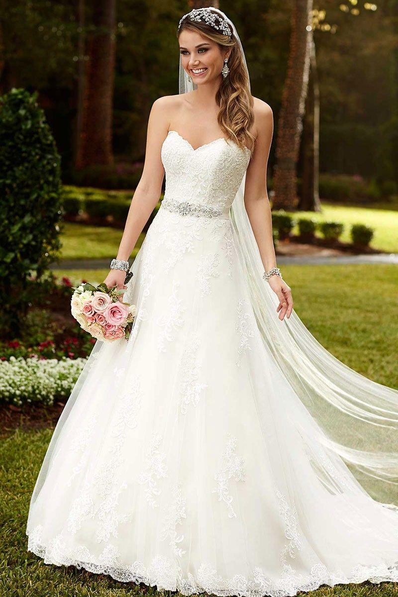 Satin A Line Princess Wedding Dresses Stella York Princess Wedding Dresses Wedding Dresses Aline Wedding Dress