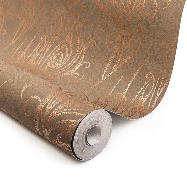 Quill Copper Wallpaper By Graham And Brown Kitchen Wallpapers In
