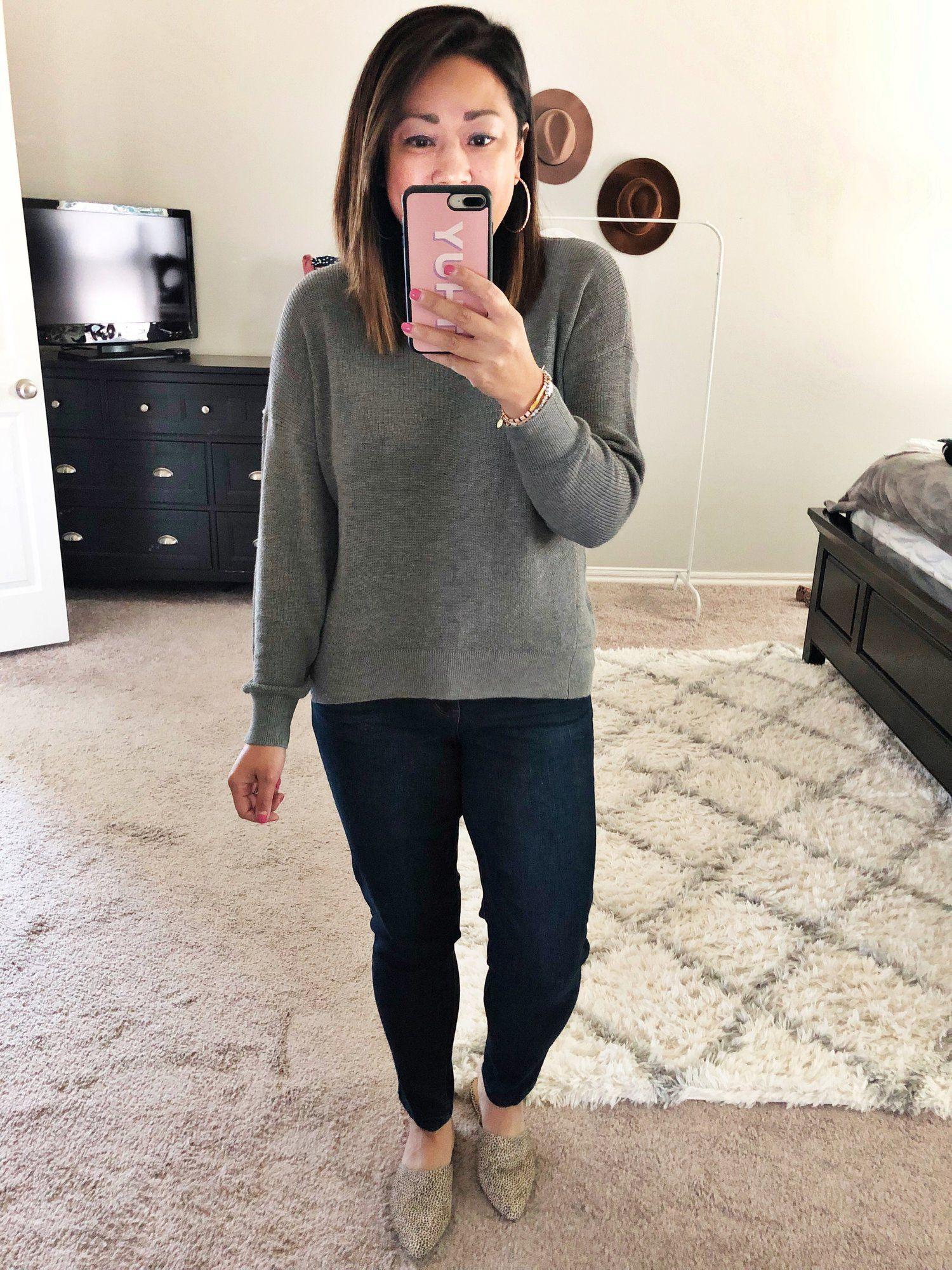 Nsale 2019 Try On Sweaters Jeans Light Denim Wit