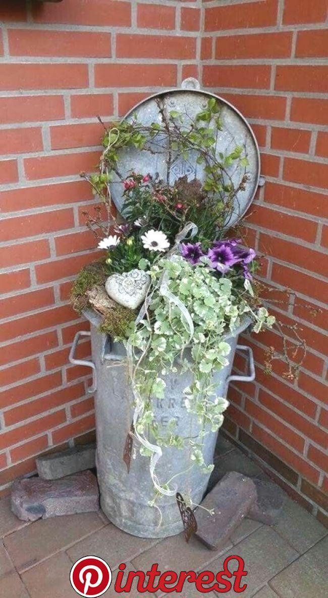 Photo of Pin by Kathie on Garden   Garden deco, Garden Planters, Garden