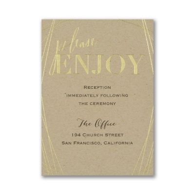 For Like Ever - Reception Card