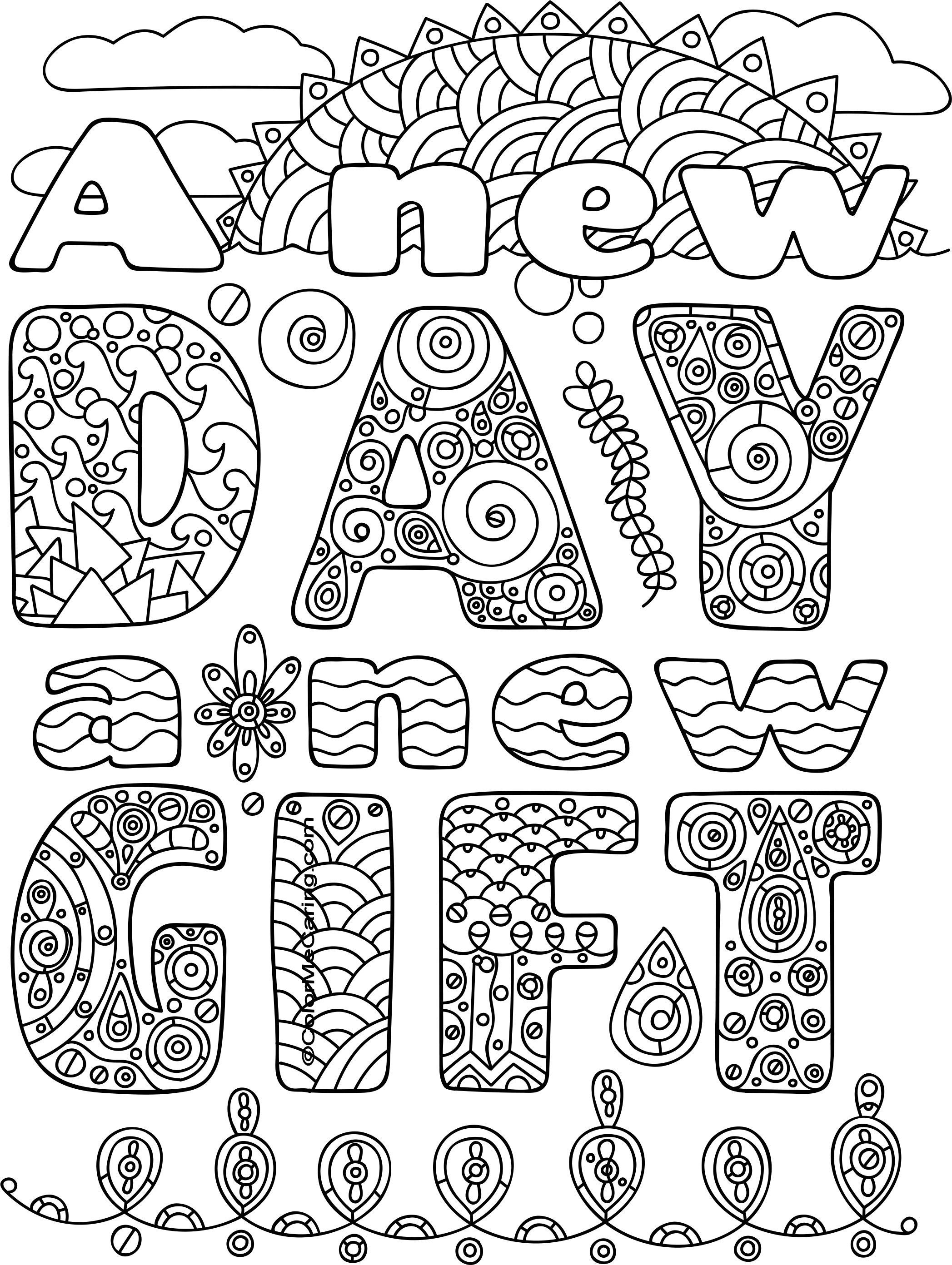 Free Printable New Year Coloring Pages