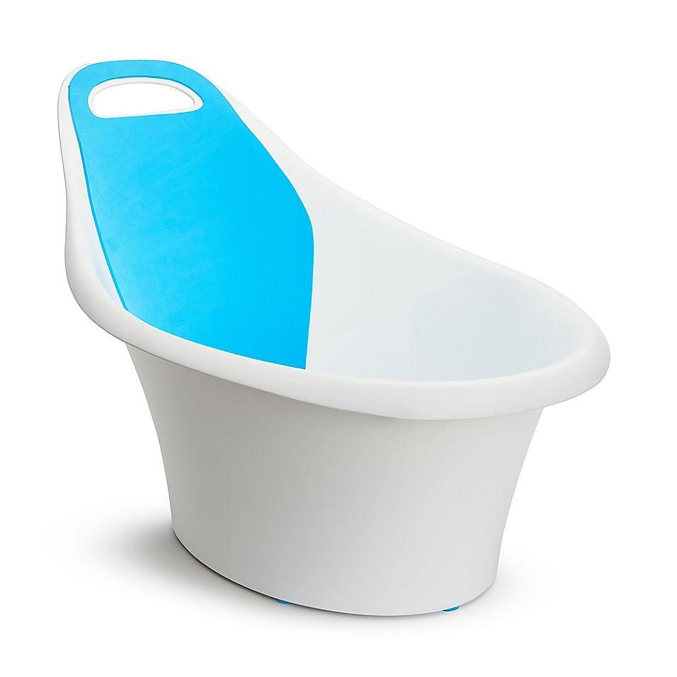 Munchkin Sit Soak Infant Bath Tub In White Blue Baby Bath Tub