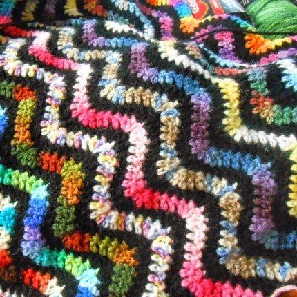 Variegated Variegated Crochet Ripple Afghan Free Pattern