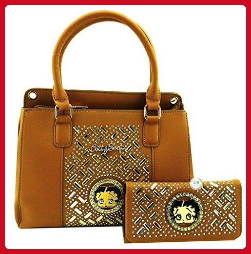 Betty Boop Premium Handbag Wallet Set, Mirror Stones, Medium Size ... 350ed69c97