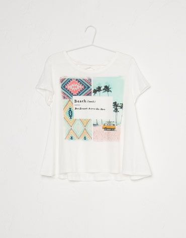 Bershka Portugal - T-shirt BSK estampado palmeiras