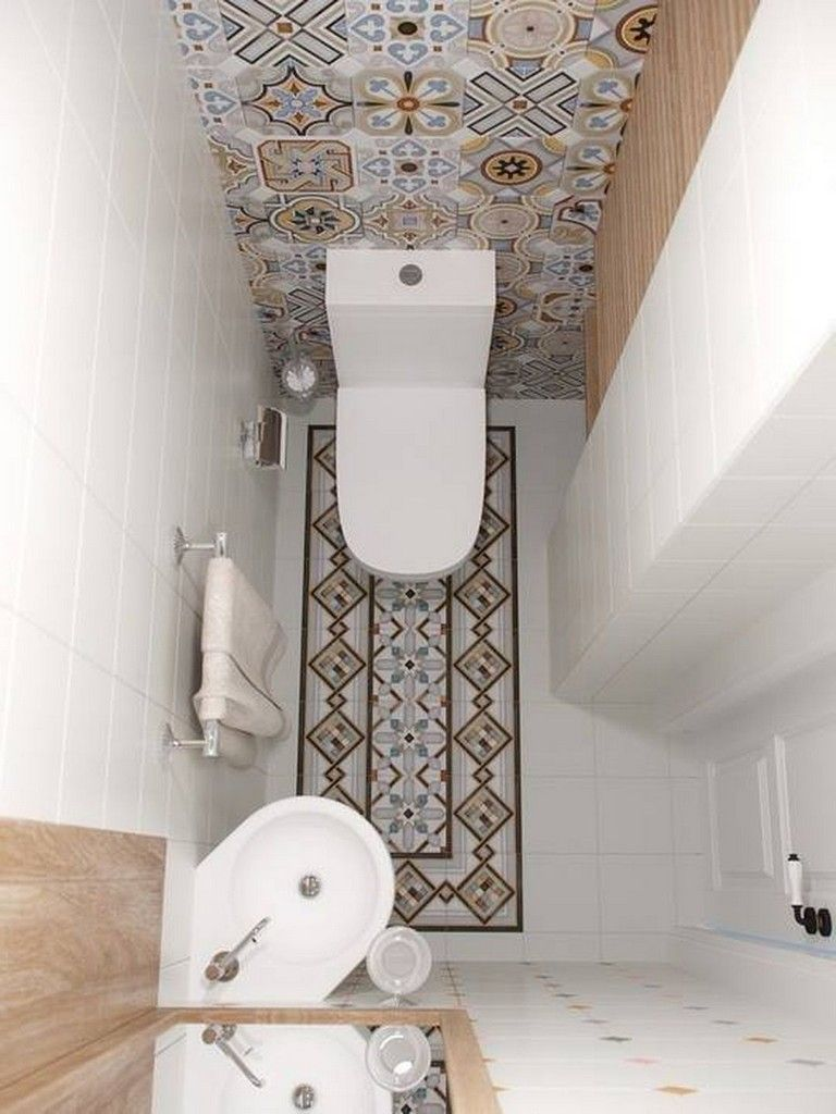 35 Crazy And Handsome Tiny Powder Room With Color And Tile Page