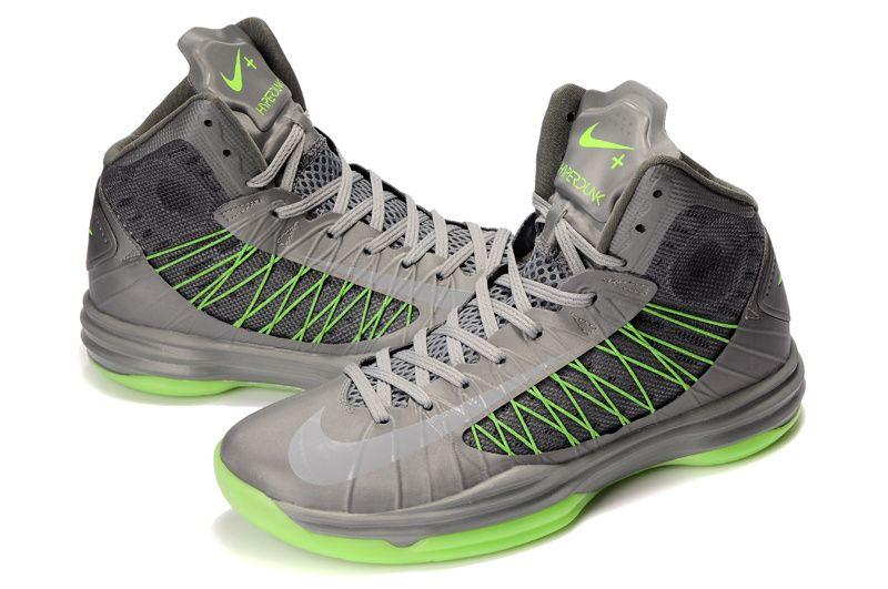 Nike Lunar Hyperdunk X 2012 James Shoes Gray/Green