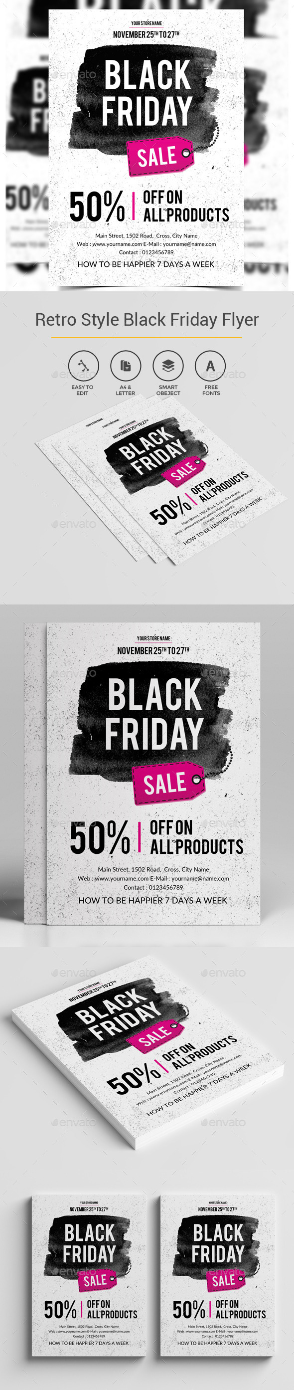 Black Friday Flyer Template PSD #design Download: http://graphicriver.net/item/black-friday-flyer/13617286?ref=ksioks