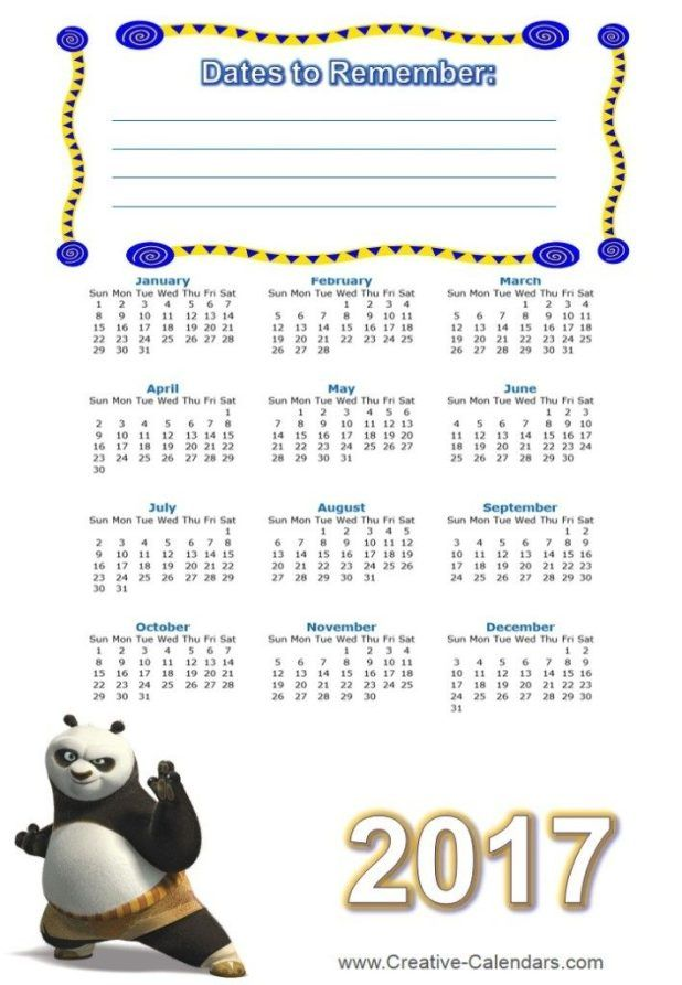 58 Stunning 2017 Printable Calendar Templates Printable calendar - calendar templates