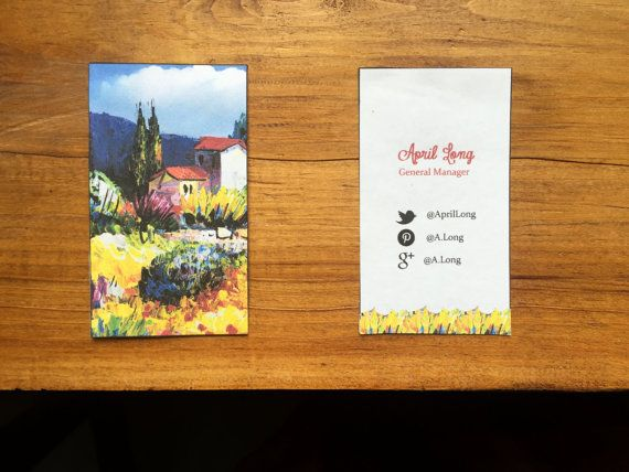 Fine Art Business Card Template by JamesandJonesDigital on Etsy ...