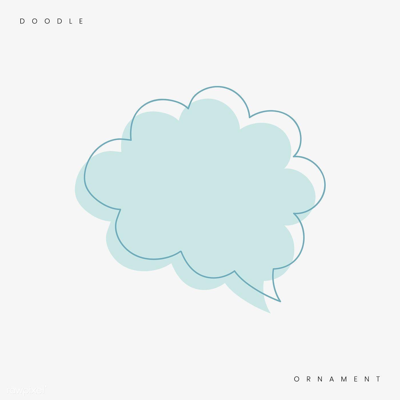 Download Premium Vector Of Pastel Blue Speech Bubble Doodle Vector 897123 Pastel Blue Speech Bubble Doodles