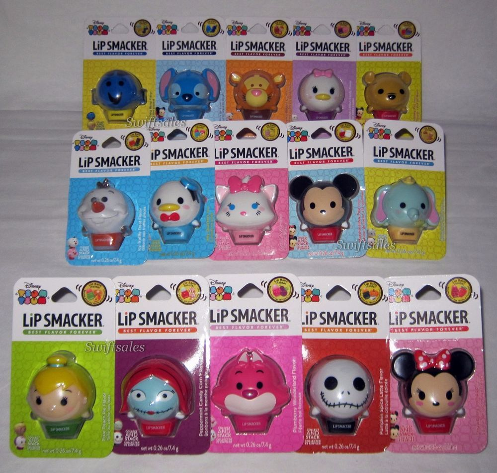 Lip Smacker Disney Character Tsum Tsum Balms All 15 Flavors