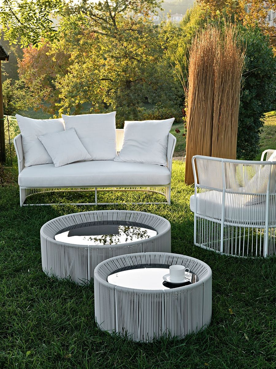 Tibidabo Lounge Armchair And Sofa With A Light Aluminum Frame Luxurious Outdoor Decor Collection By Varaschin