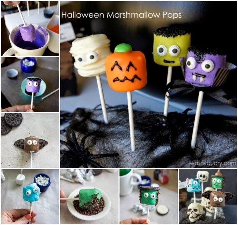 diy halloween marshmallow pops halloween halloween food halloween recipe halloween recipes halloween party favors halloween party - Diy Halloween Favors