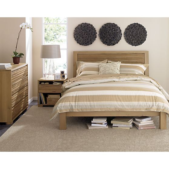 sierra bed with nightstand i crate and barrel