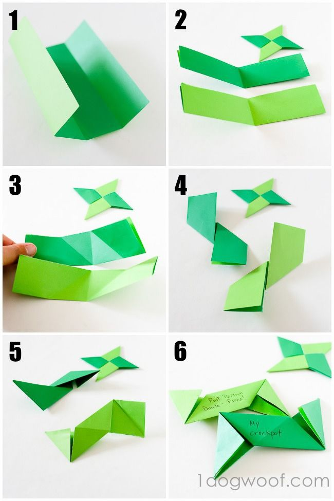 Origami Ninja Star Thankful Ornaments Crafts And Projects