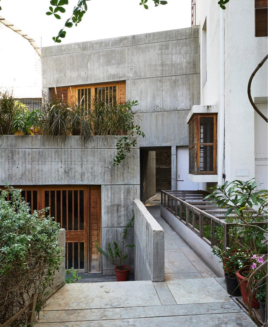 Architectural Digest India Archdigestindia On Instagram In A Quiet Tree Lined Lane In Ahmedabad Architecture House Designs Exterior Modern Architecture
