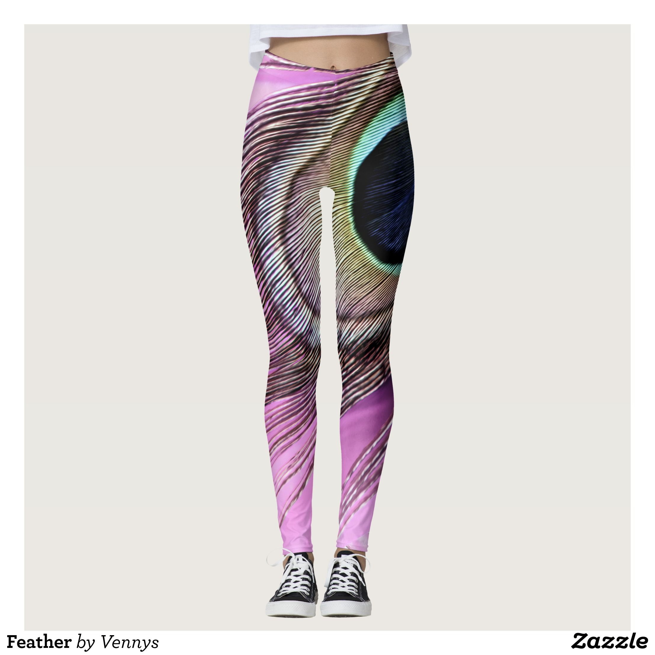 Feather Leggings Beautiful Yoga Pants Exercise