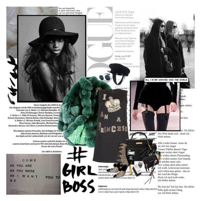 """Oh, she hurts me."" by pommepadour ❤ liked on Polyvore featuring ESCADA, Louis Vuitton, Yohji Yamamoto, Garance Doré, Dolce&Gabbana, Hermès, Guide London and Christian Louboutin"