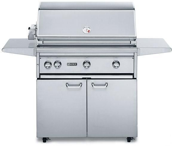 Lynx L42psfr2 Professional Grill Series 42 Freestanding Gas Grill With 1 200 Sq In Cooking Surface 2 Red Brass Bu Propane Gas Grill Lynx Grills Gas Grill