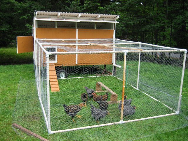 pvc chicken coop hmmm this basic design idea could be
