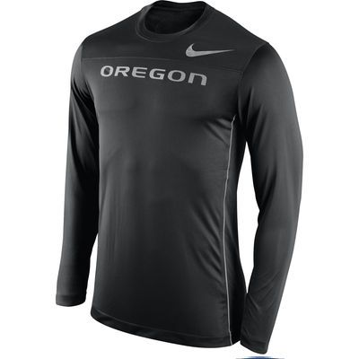 27d017663ff195 Men s Nike Black Oregon Ducks Velocity Speed Performance Long Sleeve T-Shirt