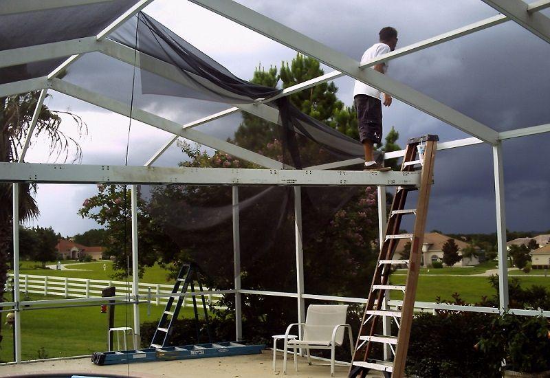 Screen Enclosure Repair Roof Architecture Building A Porch Pool Screen Repair